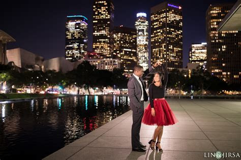 USC Downtown Los Angeles Engagement   Autumn & Dion