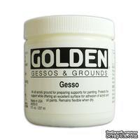 Грунт акриловый от Golden - Gesso - White 8oz, цвет белый, 240мл - ScrapUA.com
