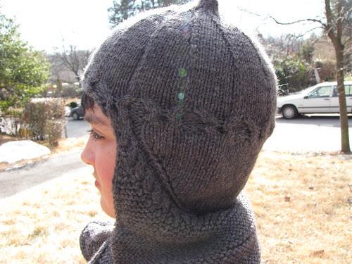 knight hat side