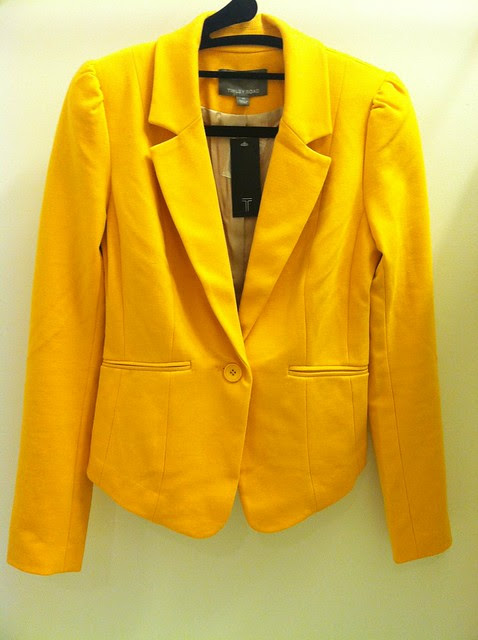 Tinley Road Bleeker Blazer in Canary Yellow, sz XS (front)