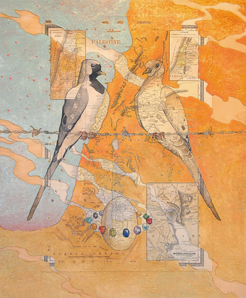 Cartographical Paintings by Paul Morstad