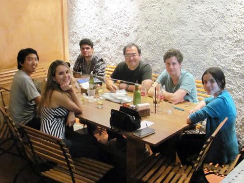 Encontro Hiro Kawahara, ila fox, ricbit, vitor cafaggi, lu cafaggi, ryot, fábio, pizzaria Pomodori, Belo Horizonte