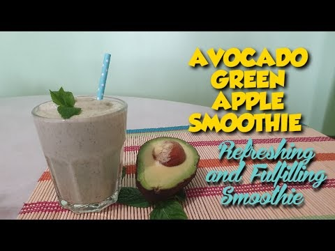 AVOCADO GREEN APPLE SMOOTHIE