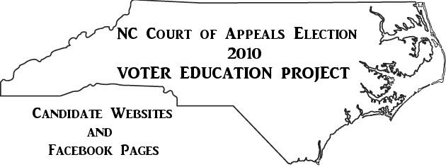 2010 Voter Education Project NC Court of Appeals Race  Graphic by Bobby Coggins