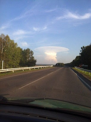 Mushroom cloud in Kemerovo region