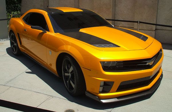 The Chevy Camaro that represents Bumblebee in TRANSFORMERS: DARK OF THE MOON.