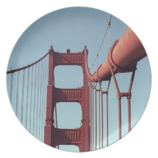 On The Golden Gate Bridge Party Plates
