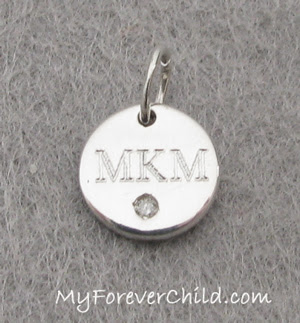 Mini Round Charm with Diamond