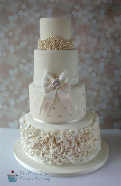 Ruffles and Bling Wedding Cake by The Clever Little