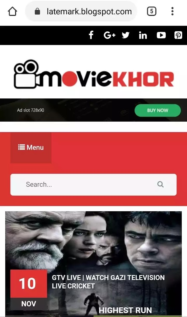Moviekhor premium Blogger Template | Movie premium blogger Theme