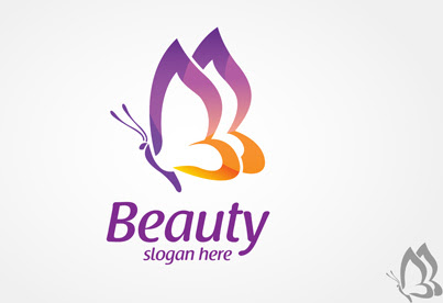 Colored butterfly logo vector Free vector in Encapsulated PostScript eps ( .eps ) vector ...