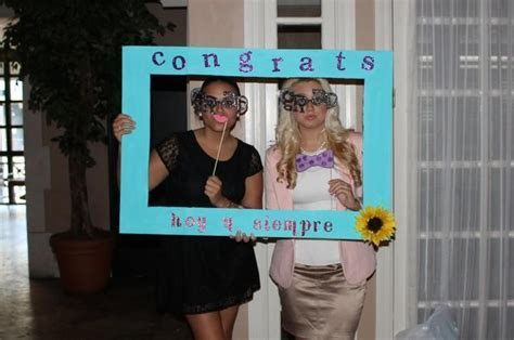 Gamma Eta's fun photo booth props for graduating seniors