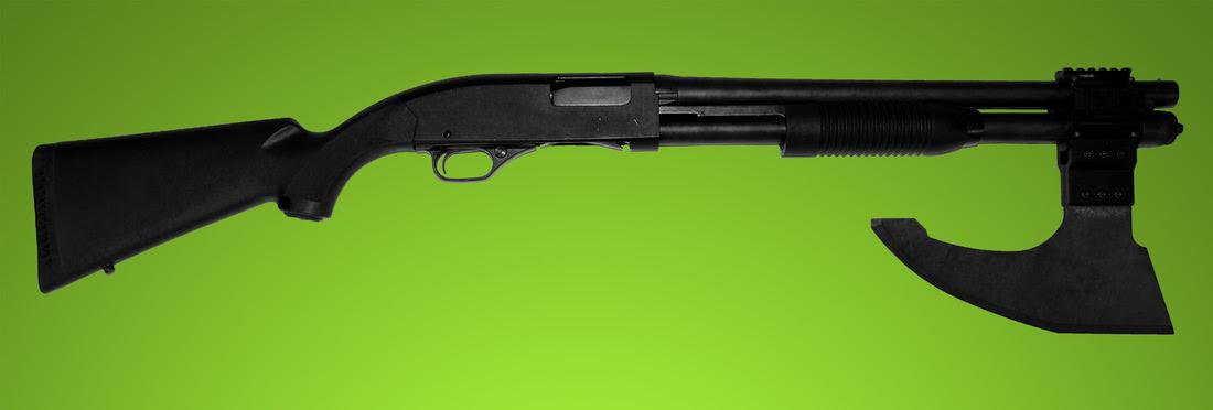 http://www.everydaynodaysoff.com/wp-content/uploads/2014/02/Gun-Rail-Mounted-Axe-Blade-Shotgun.jpg