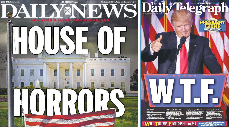 How headlines around the world summarized Donald Trump's election ...