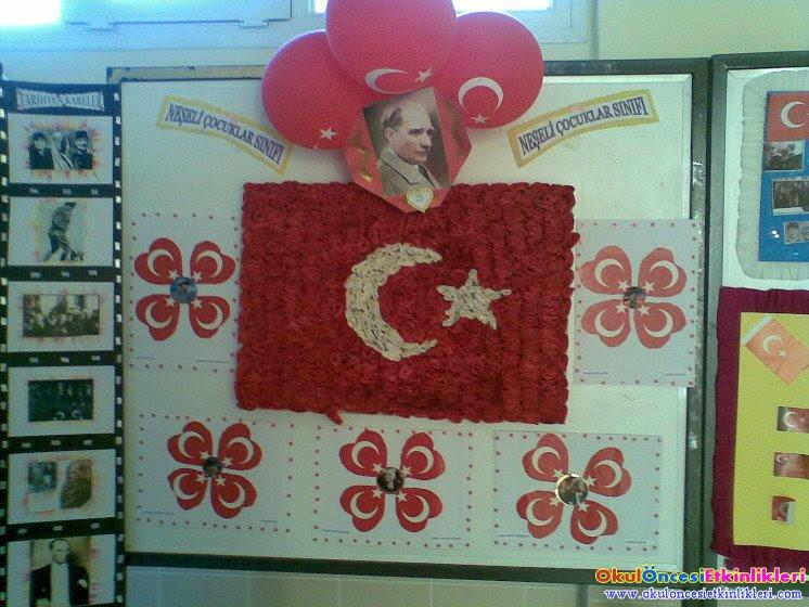 29 Ekim Cumhuriyet Için Atatürk Köşesi Okul öncesi Etkinlikleri