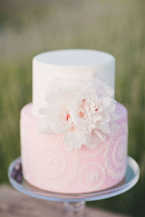 27 Pretty Pink Wedding Cakes We Adore     TopWeddingSites.com