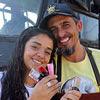 Agostinho Pereira Neto, funcionário público e barbeiro, e a manicure Erica Monique Santana