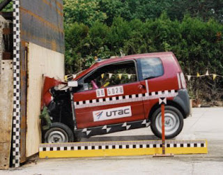 Aixam car in crash tests