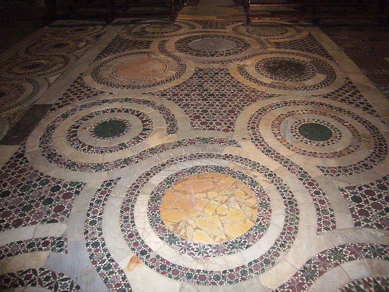 File:Trastevere - s Benedetto in Piscinula pavimento 1040040.JPG
