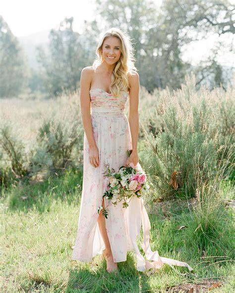 Pastel Floral Print Bridesmaid Dresses by PPS Couture