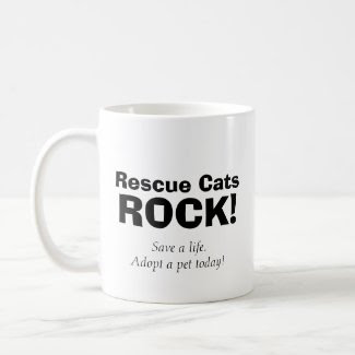 Rescue Cats Rock Coffee Mug