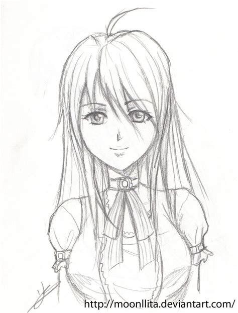 anime girl pencil  moonllita  deviantart