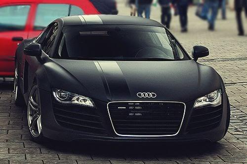 Audi I8 Matte Black Modification