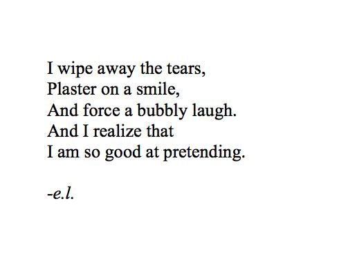 Quote Depression Broken Smile Fake Tears Hidden Determinate