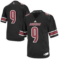 adidas Louisville Cardinals #9 Replica Football Jersey - Black