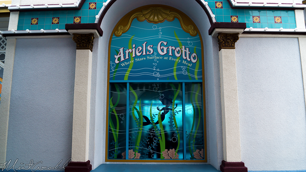 Disneyland Resort, Disney California Adventure, Paradise, Pier, Ariel, Grotto, Window