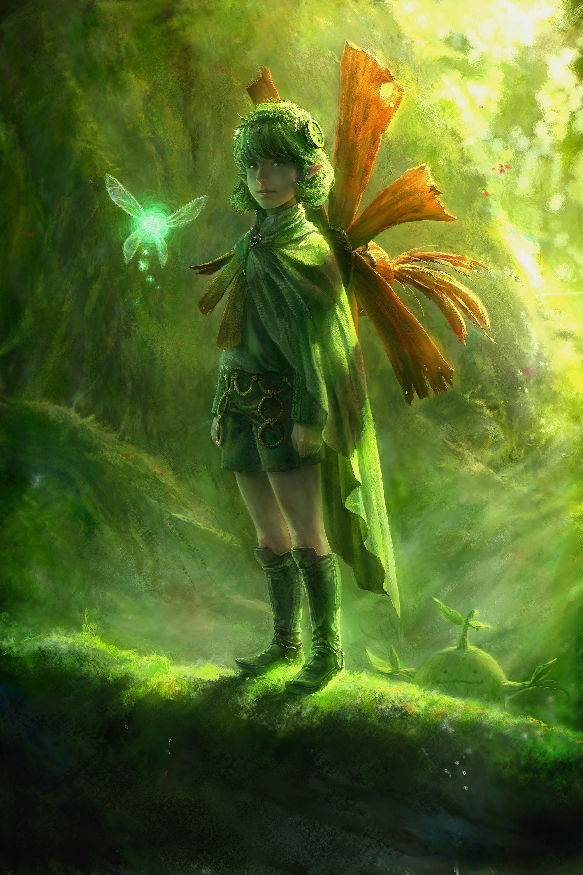 Ocarina Of Time The Legend Of Zelda Elves Artwork Saria 2000x3000