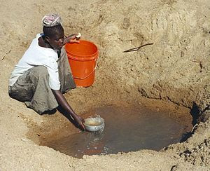 Mwamanongu Village water source, Tanzania.