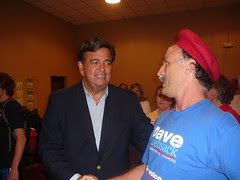 With Bill Richardson, Johnson County central committee, 8/4/08