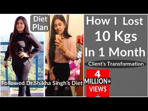 How I Lost 10 Kg In 1 Month - By Dr. Shikha Singh | Clients Transformation