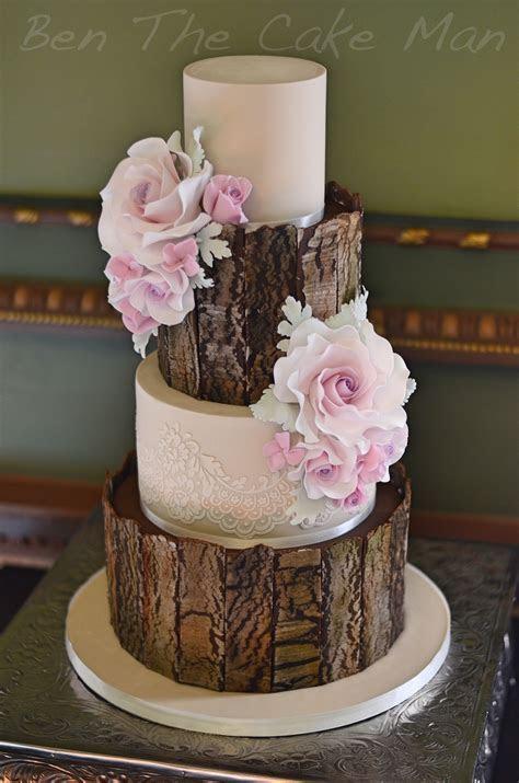 Rustic bark wedding cake   Cakes Wedding..Groom..and