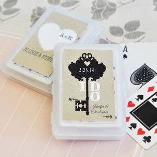 Vintage Wedding Personalized Playing Cards   Nice Price Favors