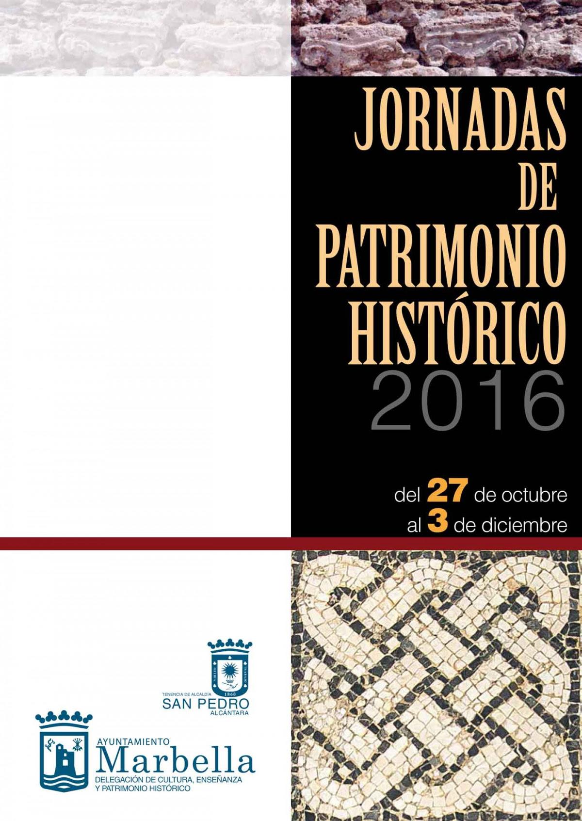 Resultado de imagen de JORNADAS DE PATRIMONIO HISTÓRICO 2016