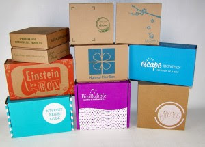 A partial  group of subscription boxes we've run
