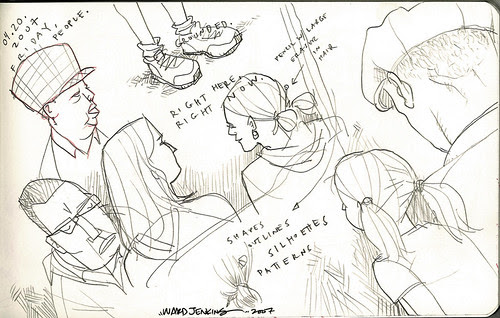sketches: bus riding 2