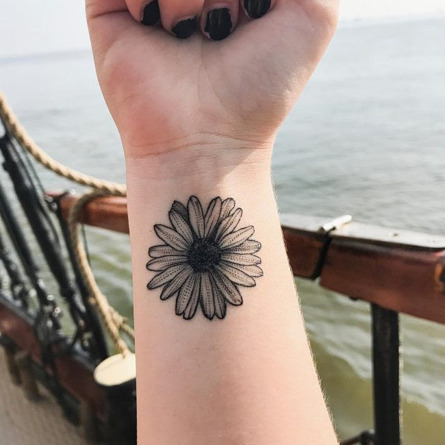 85 Best Daisy Flower Tattoo Designs Meaning 2019