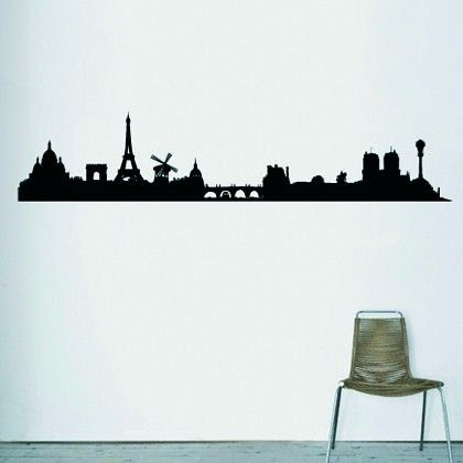 Skyline Paris Wall Sticker