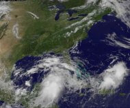 The low pressure area System 96L is pictured in the Gulf of Mexico in this June 22, 2012 handout satellite image. REUTERS/NASA/Handout