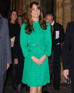 Kate Middleton wearing Mulberry
