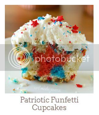 """""""Patriotic Funfetti Cupcakes"""""""