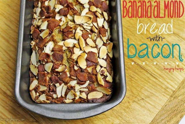 Banana Almond Bread with Bacon