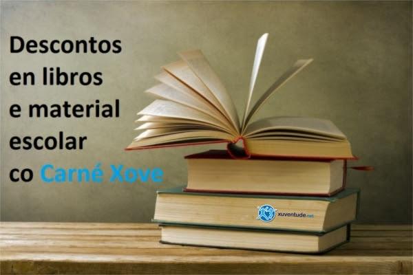 Descontos co Carné Xove en libros e material escolar