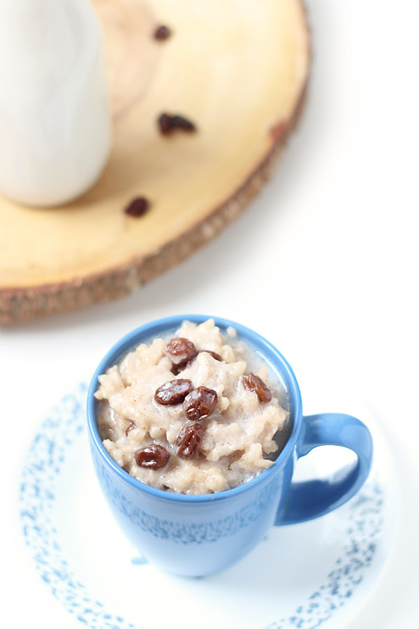 Vegan Slow-Cooked Coconut Raisin Rice Pudding