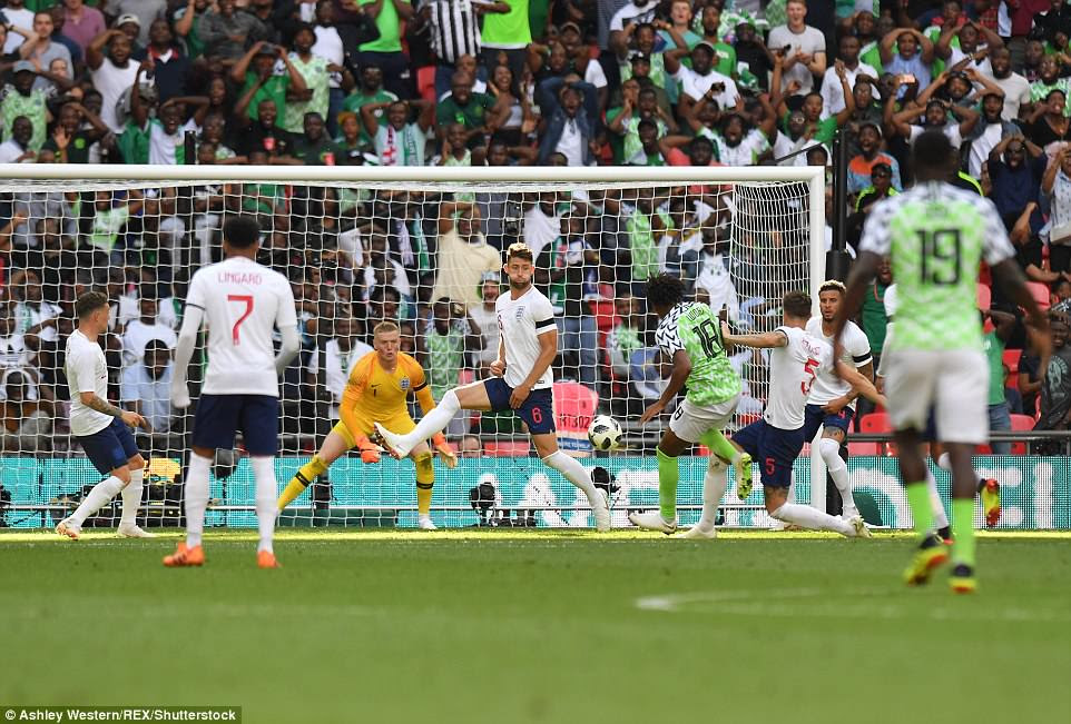 Nigeria came out a different side after the break and halved the deficit through Alex Iwobi's well-placed finish