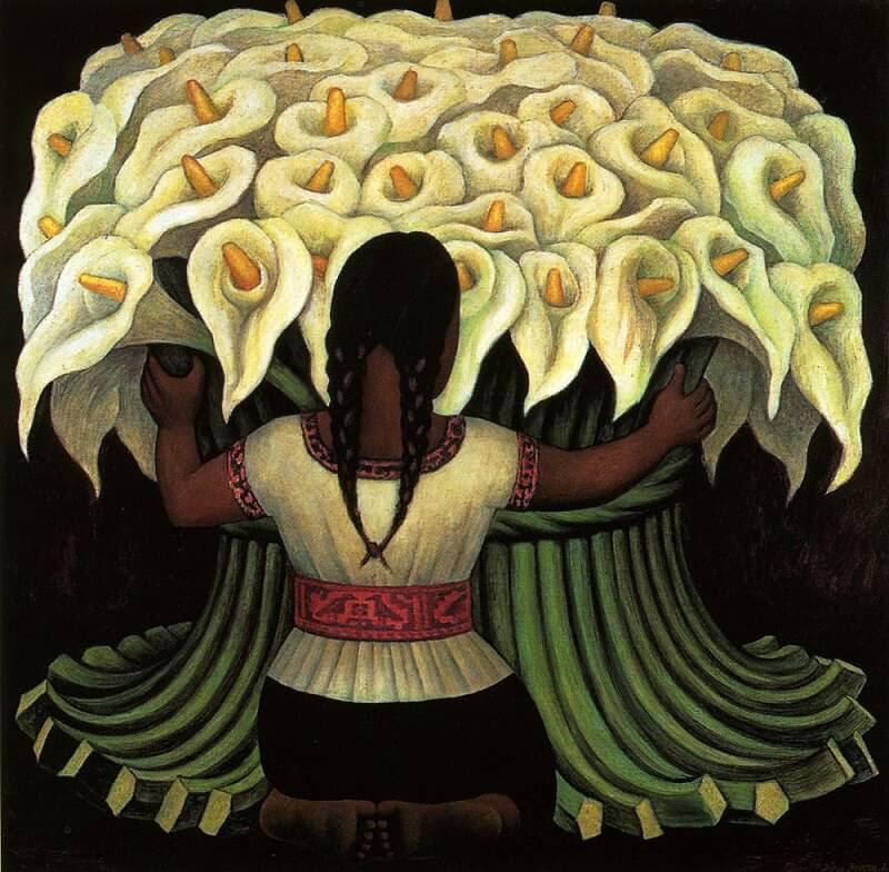 Flower Seller by Diego Rivera