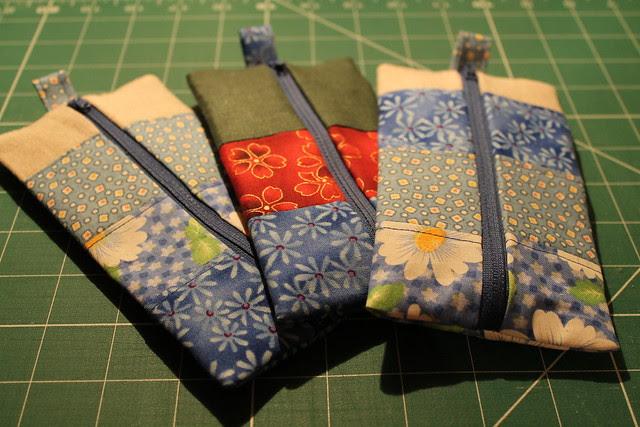 Linen and scrap pouches